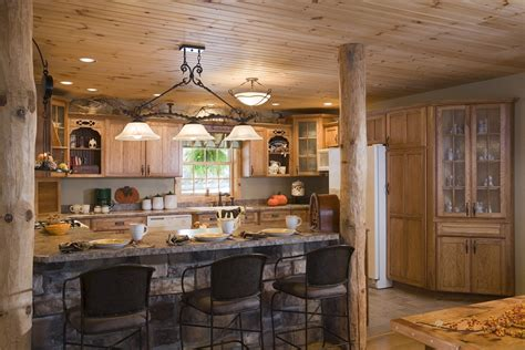 Log Home Kitchen by Log Home Photos Kitchen Dining Expedition Log Homes Llc