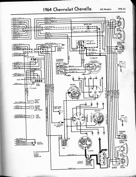 1964 chevy chevelle electrical system wiring diagram
