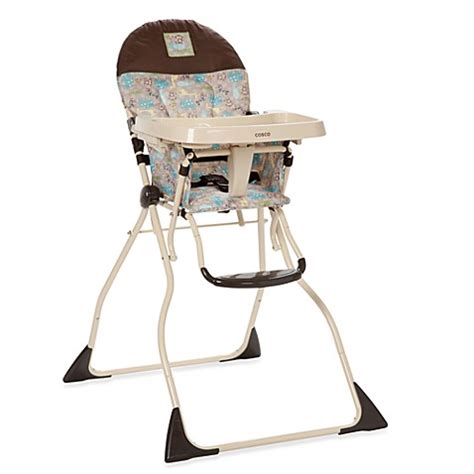 cosco slim fold high chair in kontiki buybuy baby