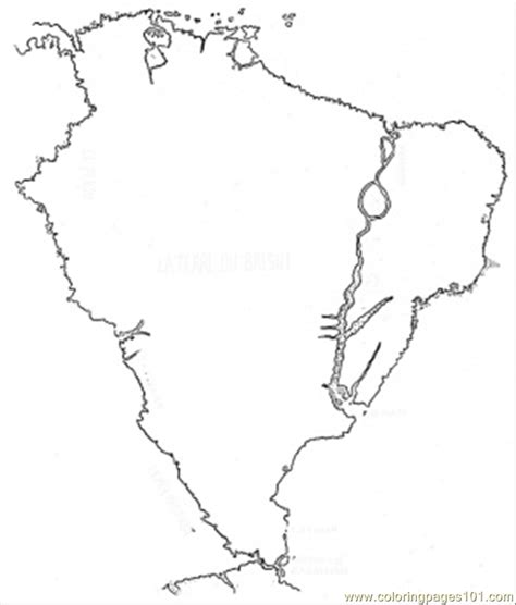 coloring page map of brazil brazil map free colouring pages