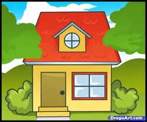 Draw House Pics Photos How To Draw A House For Kids Step 1