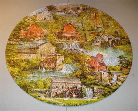 Vintage Springbok Jigsaw Round Circular Puzzle Grist Mills Circular Jigsaw Puzzles