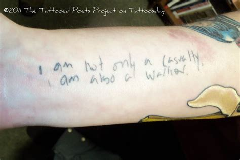 tattoo quotes for warriors tattoosday a tattoo blog the tattooed poets project