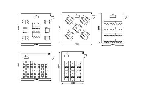 classroom layout dwg bloques cad autocad arquitectura download 2d 3d dwg
