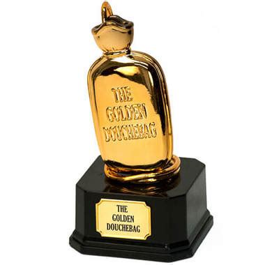 the golden douchebag trophy in popular home accessories gifts