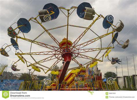 Theme Park Krakow | amusement park editorial image image of scary krakow