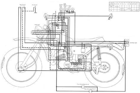 electrical wiring diagram 1974 yamaha dt360 1974 yamaha