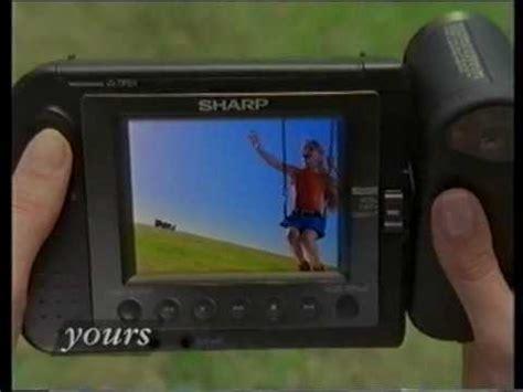 sharp viewcam video camera ad 1993 youtube