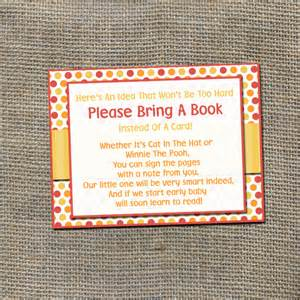 baby shower bring a book instead of a card poem bring a book instead of a card insert card for baby