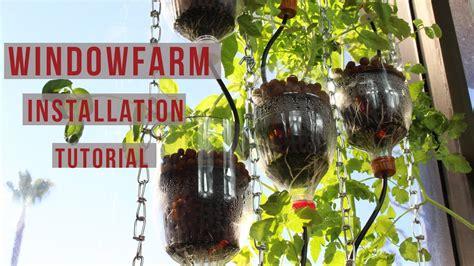 window farm installation tutorial diy window hydroponics