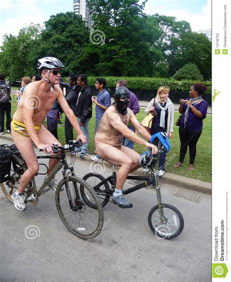 World Naked Bike Ride At Londons Hyde Park Corner Editorial Photography Image