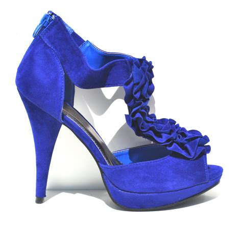 blue high sandals qupid royal blue velvet womens high heel slingback