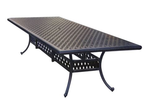 Metal Patio Table Darlee Outdoor Living Series 30 Cast Aluminum Antique Bronze 120 X 46 Rectangular Dining Table