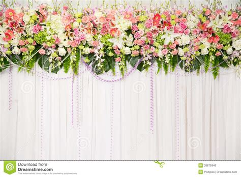 Wedding Background Decorations by Beautiful Flower Wedding Decoration Stock Photo Image Of