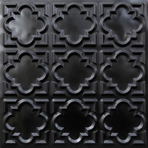 142 faux tin ceiling tile glue up 24x24 black ceiling