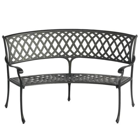 curved bench outdoor bramblecrest amalfi curved garden bench cast aluminium