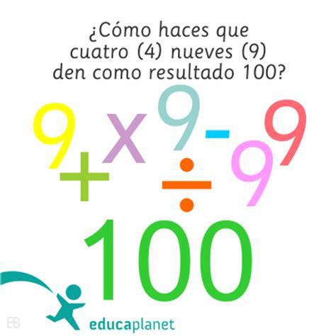 acertijo matemÁtico: pasatiempos, enigmas con operaciones