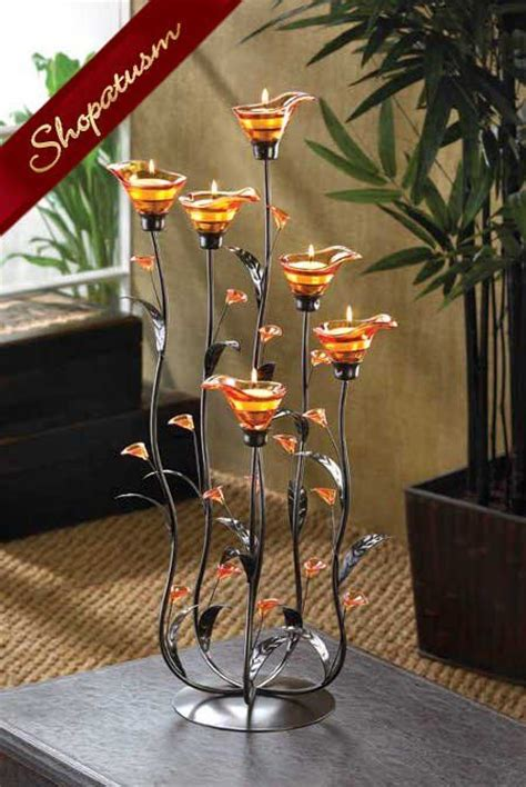 Large Candle Holder Centerpiece Large Wedding Centerpiece Calla Candle Holder
