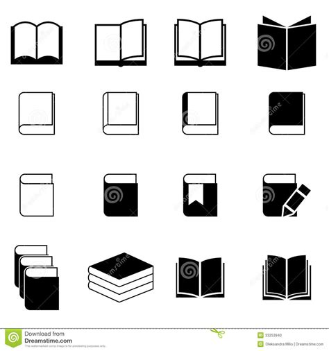 format eps to jpg book icon set stock vector image of document library