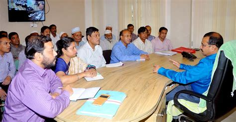meeting section ccc mayor ajm nasir uddin hold a meeting with section