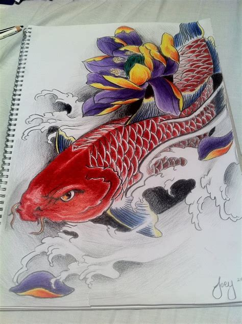 red koi fish tattoo designs koi fish designs