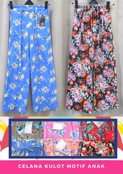 Celana Kulot Dewasa Bahan Cotton pusat grosir celana kulot motif anak perempuan murah 24ribu