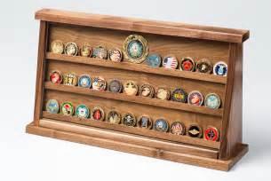 large walnut challenge coin displays