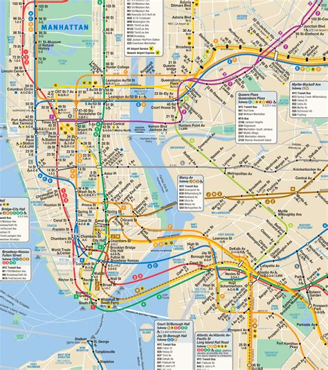 metro map nyc image gallery nyc mta subway map