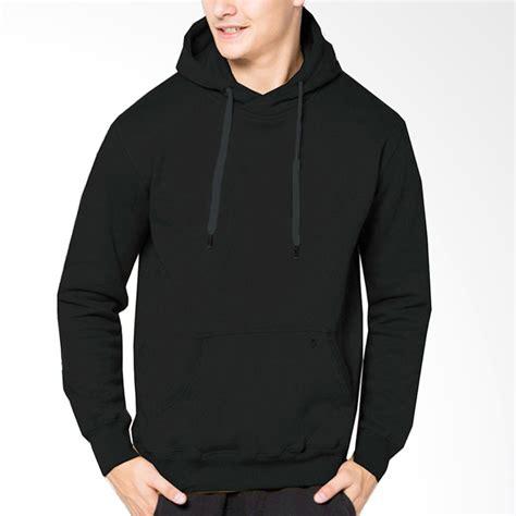 Jaket Hodie Polos Pria jual vm oblong hoodie polos basic jaket pria hitam