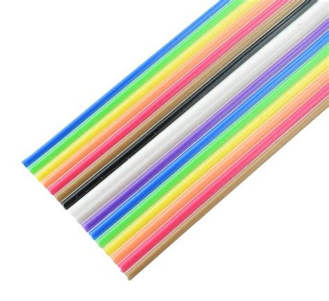 10 14 16 way multi coloured ribbon cable wire 28awg ebay