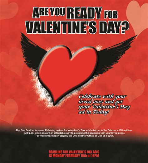 valentines day commercial one feather valentine s day ads flyer the one