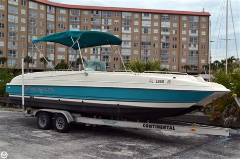 bayliner boats for sale used 1996 used bayliner 2609 rendezvous deck boat for sale