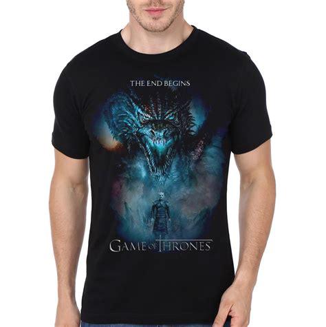 Of Thrones Tshirt the end begins of thrones black t shirt swag shirts