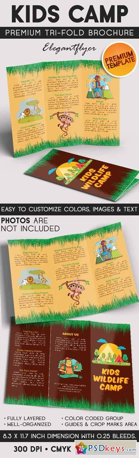 kids wildlife c tri fold brochure psd template 187 free