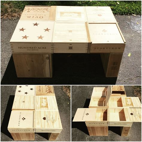 wine crate coffee table diy ideas wine crate coffee table diy project wine time
