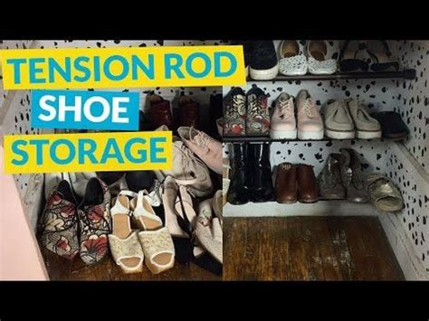 Tension Rod Shoe Rack by 1000 Ideas About Tension Rods On Curtain Rods Storage And Curtains