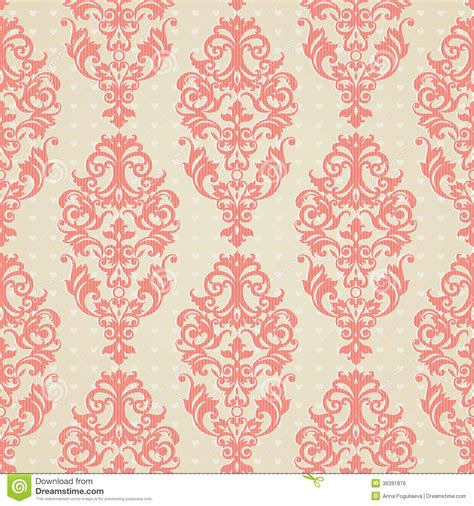 vintage style floral background with pink blooms royalty seamless pattern with swirls royalty free stock image