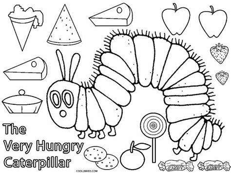 Free The Hungry Caterpillar Coloring Pages Hungry Caterpillar Colouring Pages