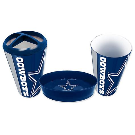 dallas cowboys bathroom decor bath home office accessories cowboys catalog