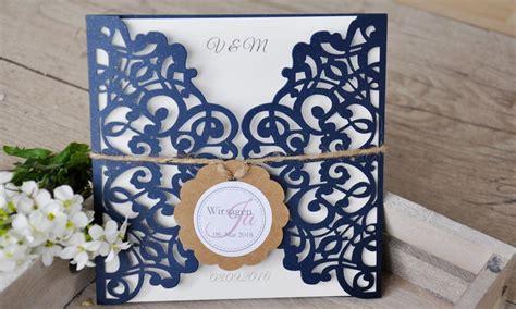 Einladungskarten Hochzeit Dunkelblau by Einladungskarten Hochzeit Spitze Quot Maritim Quot