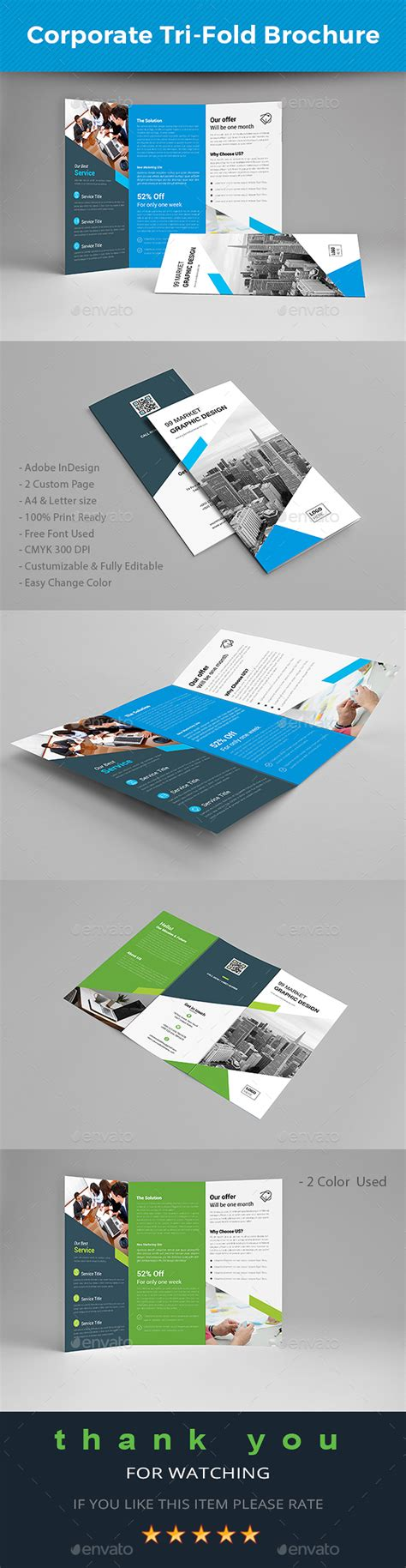 tri fold brochure template indesign cs6 tri fold brochure by 99market graphicriver