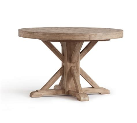 pottery barn pedestal dining table benchwright extending pedestal dining table seadrift pottery barn