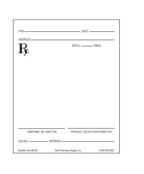 prescription pad template blank rx template pictures to pin on pinsdaddy