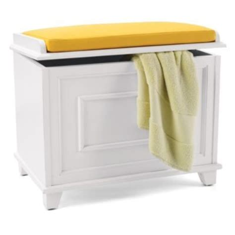 Bathroom Stools With Storage Springfield Storage Bench With Cushion Pretty In A Big Bathroom As A Stool For A Vanity For