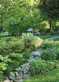 Flat Flower Channel woodland edge garden design like the distinct separation