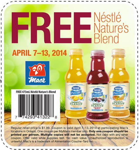Search Canada Ontario Free Mac S Canada Ontario Freebies Get Free Nestle Nature S Blend Canada Deals