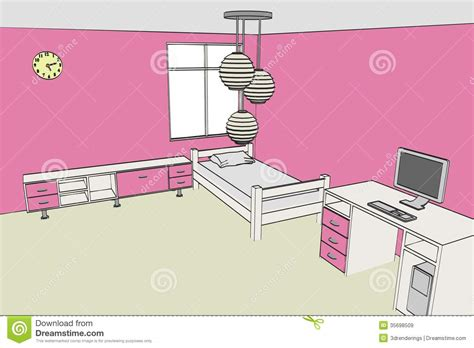 cartoon girls bedroom image of girls room royalty free stock images image