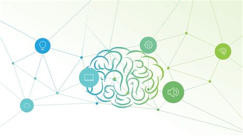 Presentation Of Brain Concept Slide Connecting Nodes Artificial Intelligence Ppt Template Free