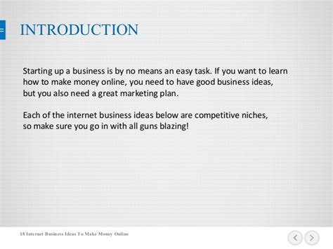 Money Making Online Business Ideas - 18 internet business ideas to make money online