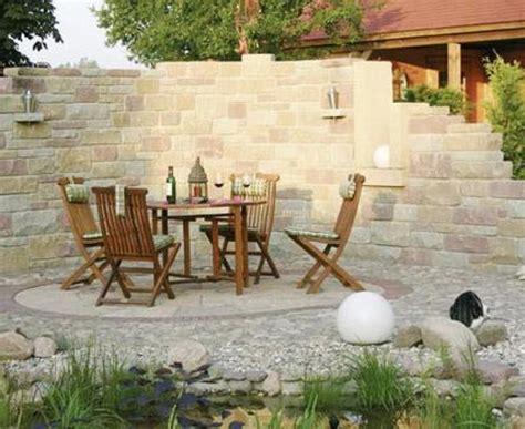 steinmauer mediterran steinmauer garten mediterran garten und bauen